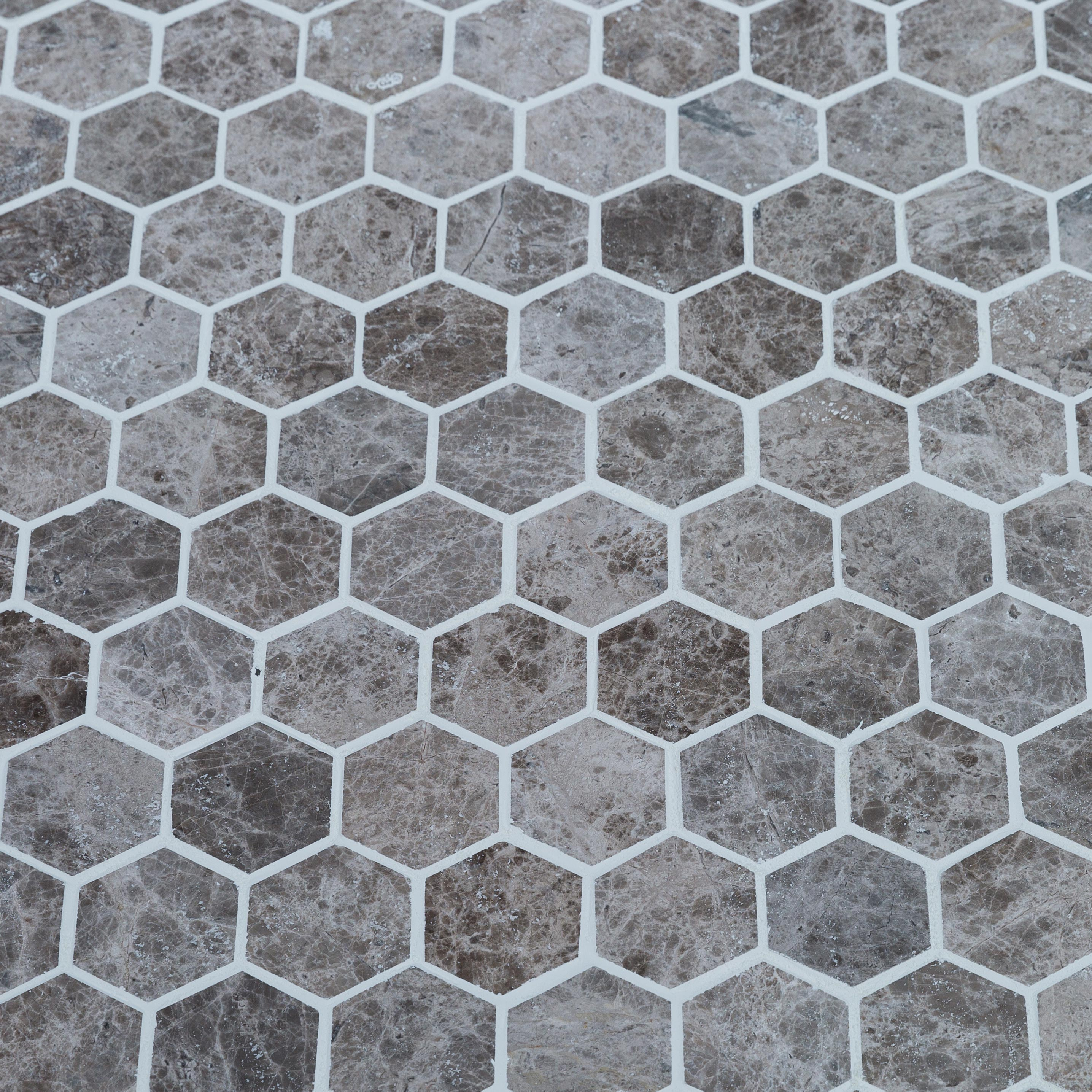 6-marble_mosaic_hexagon__silver-emprador_polished_www.thulahome.com_grout_angle_view_8921