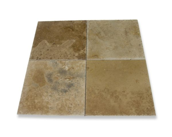 Kesir Volcano Travertine Tile Brushed and Chiseled 18x18 multi view