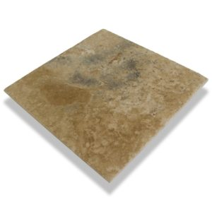 Kesir Volcano Travertine Tile Brushed and Chiseled 18x18 profile view