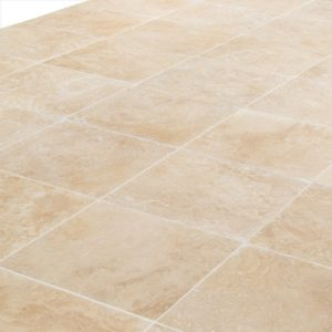 """Oasis Beige Travertine Tile - Honed and Filled - 18""""x18""""x1/2"""""""