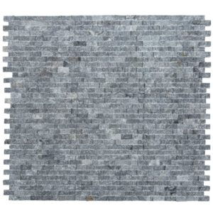 20012458-space-gray-split-face-marble-mosaics-1x2-multi-top-view-www.thulahome.com