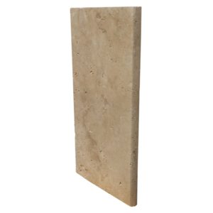 """Light Travertine Pool Coping - Unfilled & Bullnose - 12""""x24""""x1 1/4"""""""