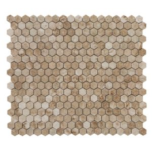 20020069-cappuccino-marble-mosaics-polished-2-hexagon-multi-top-view-www.thulahome.com