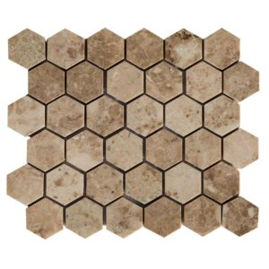 20020069-cappuccino-marble-mosaics-polished-2-hexagon-top-single-view-www.thulahome.com