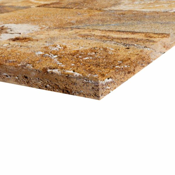 20020070-meandros-gold-yellow-travertine-pavers-12x12-profile-view-www.thulahome.com