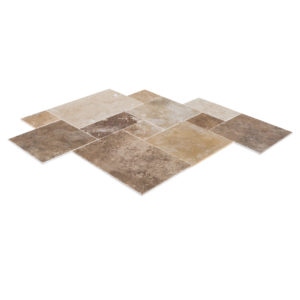 20020080-thula-mix-antique-pattern-travertine-tiles-burshed-chiseled-multi-top-angle-view-www.thulahome.com