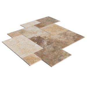 20020080-thula-mix-antique-pattern-travertine-tiles-burshed-chiseled-multi-top-angle-view1-www.thulahome.com