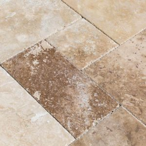 20020080-thula-mix-antique-pattern-travertine-tiles-burshed-chiseled-top-close-view-www.thulahome.com