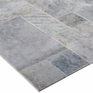 10077236-Silver-grey-Antique-Pattern-Travertine-Tile-angle-corner-view-2S3A2906
