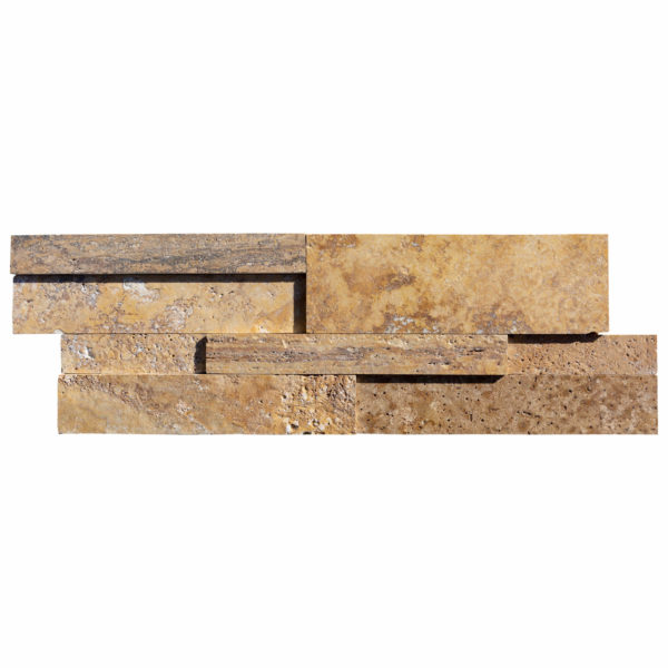 20201001-Gold-3D-Travertine-Ledger-Panel-Honed-8-24-3:4-Single-Piece-View2S3A3741