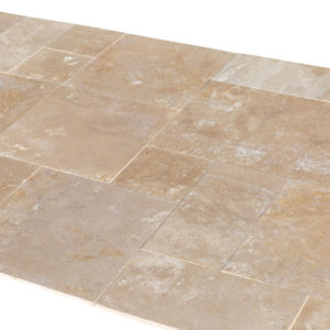 20071439-Denizli-Beige-French-Pattern-Travertine-Tile-Filled-Brushed-Straight-Edge-Angle-View-2S3A3713