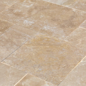 20071439-Denizli-Beige-French-Pattern-Travertine-Tile-Filled-Brushed-Straight-Edge-Close-Angle-View-2S3A3714