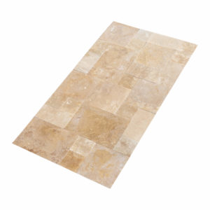 20071439-Denizli-Beige-French-Pattern-Travertine-Tile-Filled-Brushed-Straight-Edge-Multi-Top-Angle-View-2S3A3720