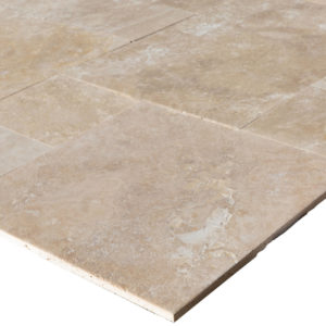20071439-Denizli-Beige-French-Pattern-Travertine-Tile-Filled-Brushed-Straight-Edge-Profile-View-2S3A3711