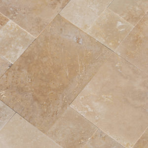 20071439-Denizli-Beige-French-Pattern-Travertine-Tile-Filled-Brushed-Straight-Edge-Top-Close-View-2S3A3718