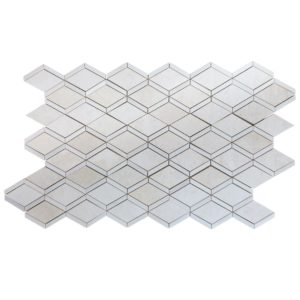 Diamond Beige Marble and Dolomit Mosaic Tile Multi Top View