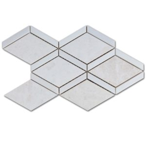 Diamond Beige Marble and Dolomit Mosaic Tile Top View 2