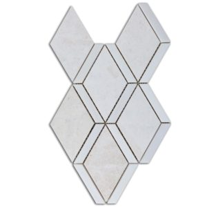 Diamond Beige Marble and Dolomit Mosaic Tile Top View