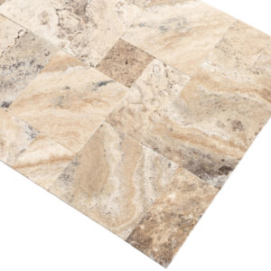 Philly Travertine Tile - Brushed & Chiseled - Antique Pattern
